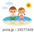 海 海水浴 男の子のイラスト 29577409