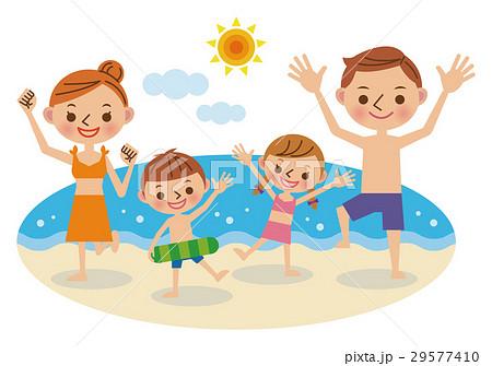 家族で海水浴 29577410