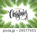 Christmas Tree Branches Border with handwriting 29577453