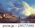 scenery of lonely woman looking at another erath 29577490