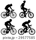 Set silhouette of a cyclist male. 29577585