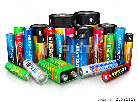 Collection of different batteries 29581118