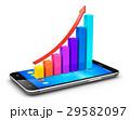スマートフォン モバイル グラフのイラスト 29582097