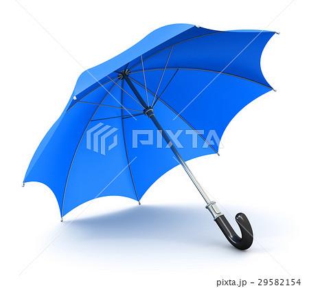 Blue umbrella or parasol 29582154