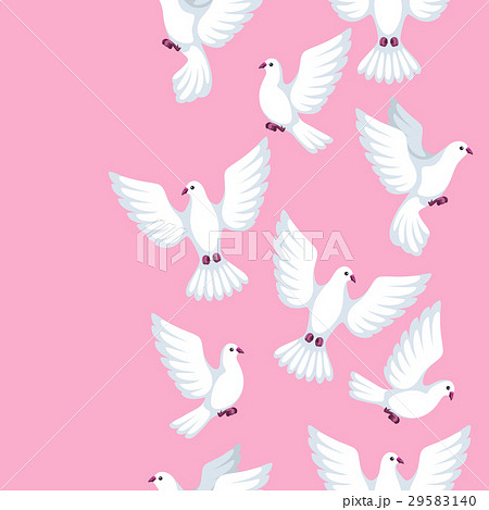 Seamless pattern with white doves. Beautiful 29583140