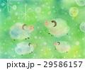 ひつじの冒険:パステル画 29586157