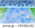 ひつじの冒険:パステル画 29586162