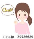 女性 チェック ベクターのイラスト 29586689