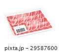 バラ肉 食肉 牛肉のイラスト 29587600