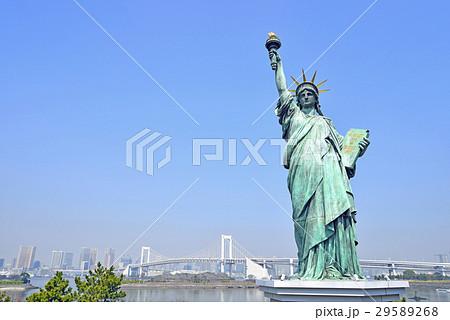 東京 お台場 自由の女神とレインボーブリッジ 29589268