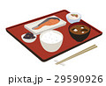 朝食 和食 料理のイラスト 29590926