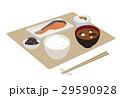 朝食 和食 料理のイラスト 29590928