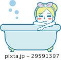 女性 風呂 入浴のイラスト 29591397