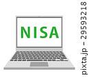 素材 NISA パソコンのイラスト 29593218