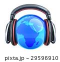 音楽 ヘッドフォン ヘッドホンのイラスト 29596910