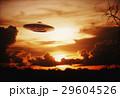 空飛ぶ円盤 夕日 夕焼のイラスト 29604526