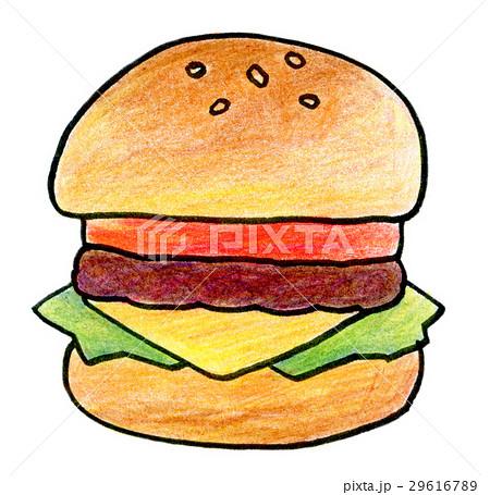 色鉛筆イラスト ハンバーガーのイラスト素材 29616789 Pixta