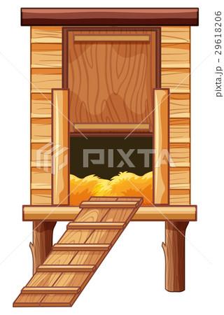 Chicken coop made of woodのイラスト素材 [29618206] - PIXTA