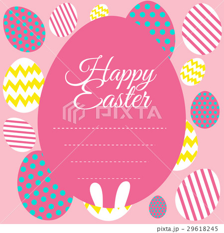 happy easter card template with pink backgroundのイラスト素材