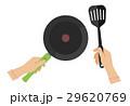 フライパン 料理 女性のイラスト 29620769