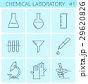 Chemical laboratory equipment line symbols.  29620826
