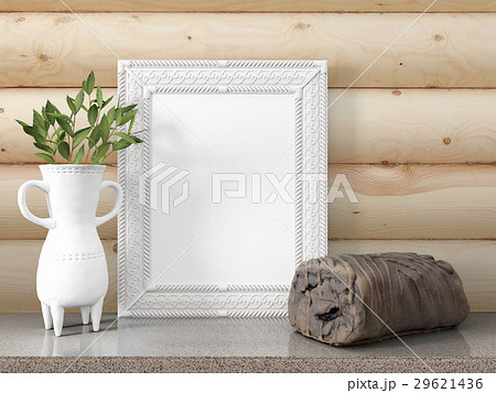 Mock up blank frame. 3d renderingのイラスト素材 [29621436] - PIXTA