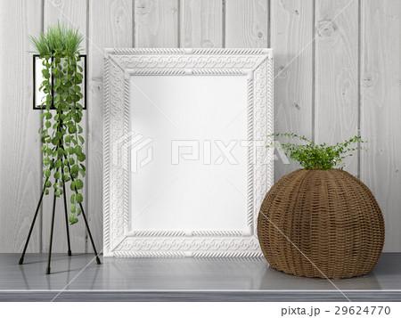 Mock up blank frame. 3d renderingのイラスト素材 [29624770] - PIXTA