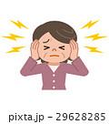 耳鳴りに悩むシニア女性 29628285