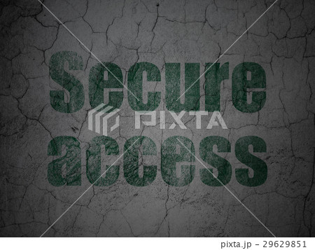 Safety concept: Secure Access on grunge wall 29629851