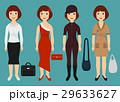 Girl dressed in different outfits. Cartoon fashio 29633627