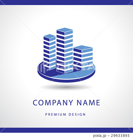 Real estate logo design. Building silhouetteのイラスト素材 [29633893] - PIXTA