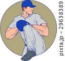 ベースボール 白球 野球のイラスト 29638389