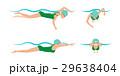 ベクトル スイミング 水泳のイラスト 29638404