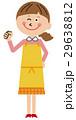ママ エプロン 人物のイラスト 29638812