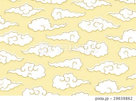 雲 文様 水彩画のイラスト素材 [29639862] - PIXTA