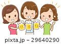 乾杯 ビール 女性のイラスト 29640290