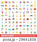 100 100 アートのイラスト 29641838