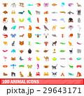 動物 アイコン コレクションのイラスト 29643171