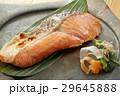 焼き魚 鮭 クローズアップの写真 29645888