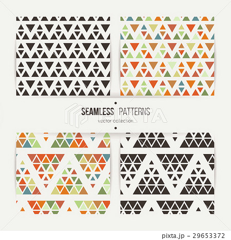 Seamless set of triangle halftone gradientのイラスト素材 [29653372] - PIXTA