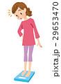 体重計 女性 体重管理のイラスト 29653470