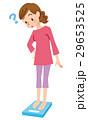 体重計 女性 体重管理のイラスト 29653525