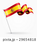 Spanish pin wavy flag. Vector illustration. 29654818
