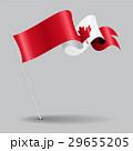 Canadian pin wavy flag. Vector illustration. 29655205