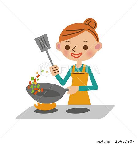 料理をする主婦 29657807
