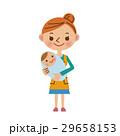 赤ちゃんを抱っこする主婦 29658153
