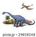 恐竜、プラキオサウルスとランフォリンクス、きょうりゅう、ジュラ紀、 29658248
