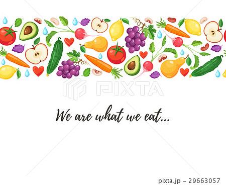 healthy eating posterのイラスト素材 [29663057] - PIXTA