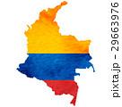 コロンビア 地図 国旗のイラスト 29663976