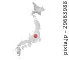 日本 地図 国旗のイラスト 29663988